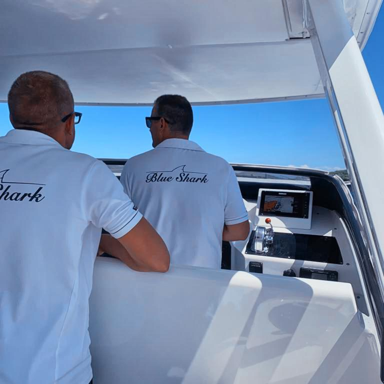 Blue Shark Boat Tours & Transfers from split crew on the tour