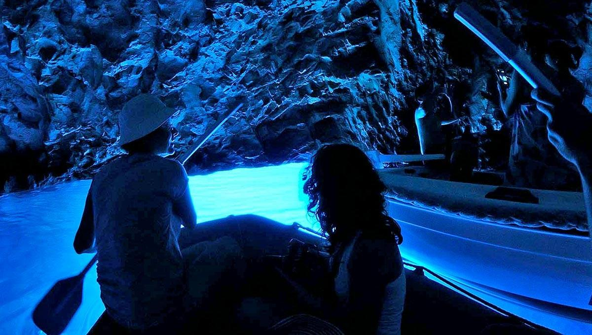 Blue Cave by Biševo Island is the favorite Blue Shark guests destination for day tours from Split Croatia